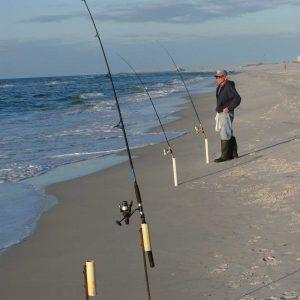 Bull Redfish Off the Beach