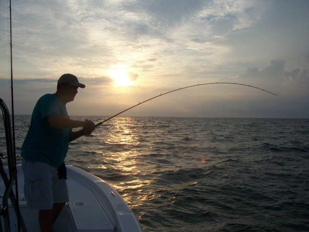 Fishing at the Dixey Bar.