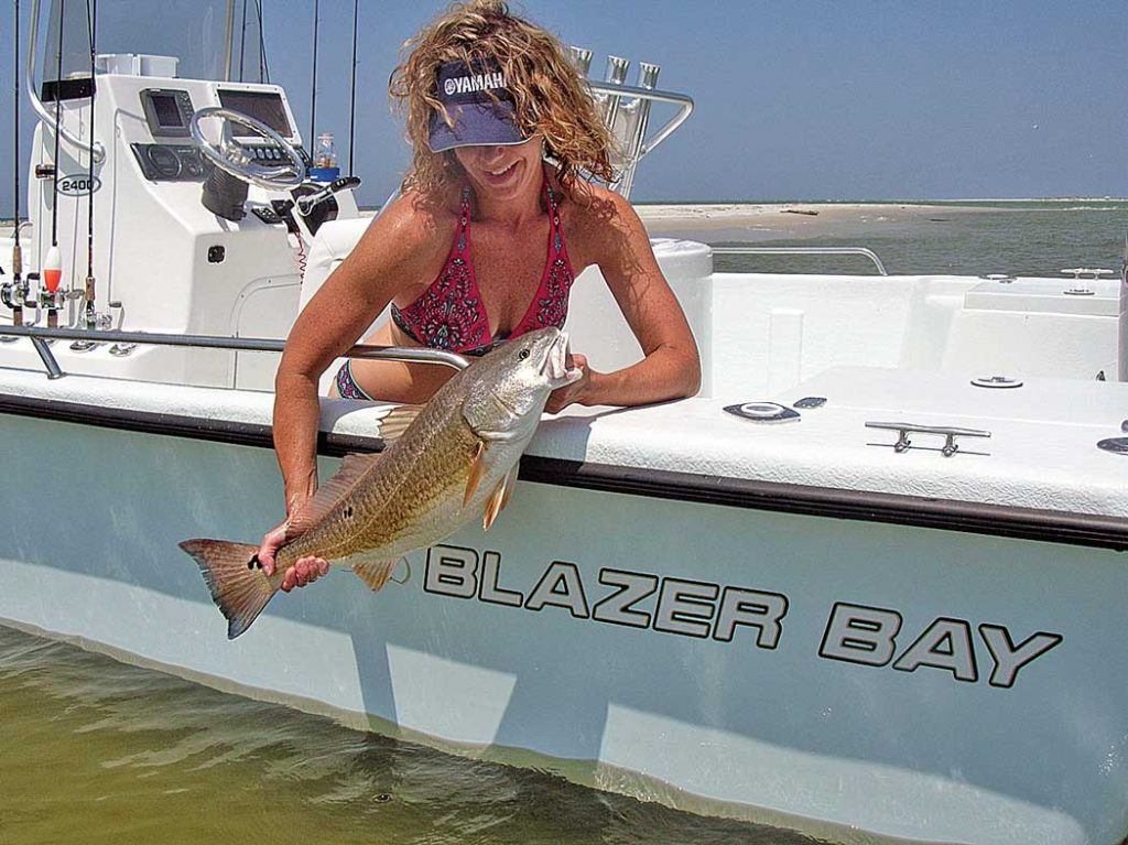 Fishing for redfish and speckled trout.