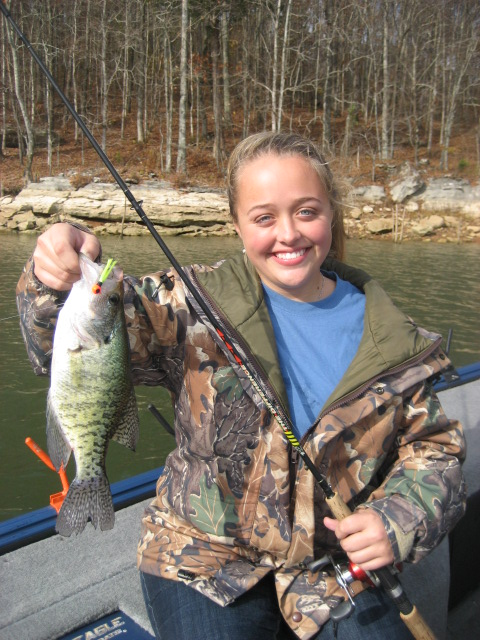 When crappie fishing with the best guides, they will put you in areas where there are plenty of crappie.
