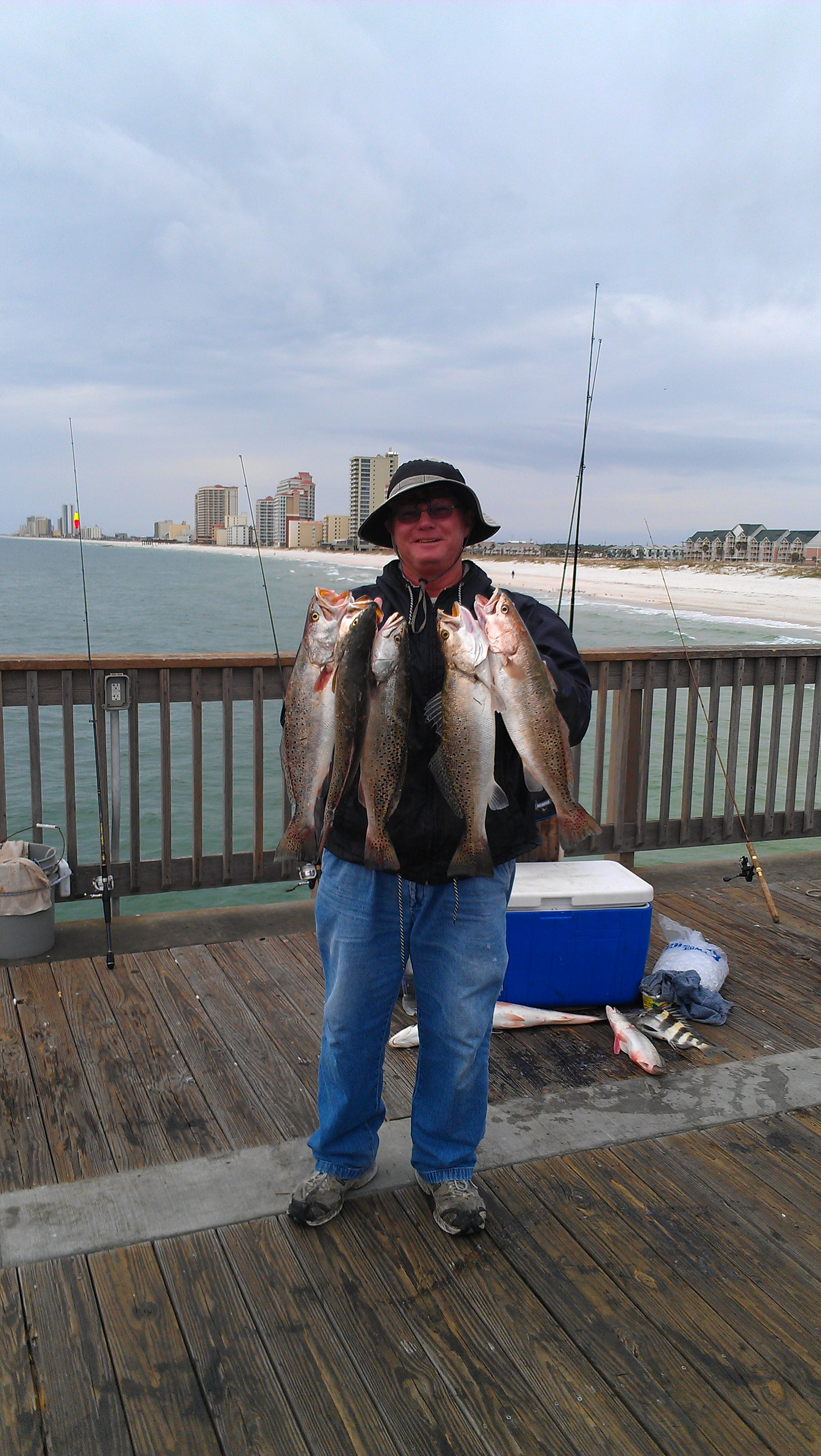 Follow our Pier and Shore fishing forecast to be successful in catching a large number of specks.