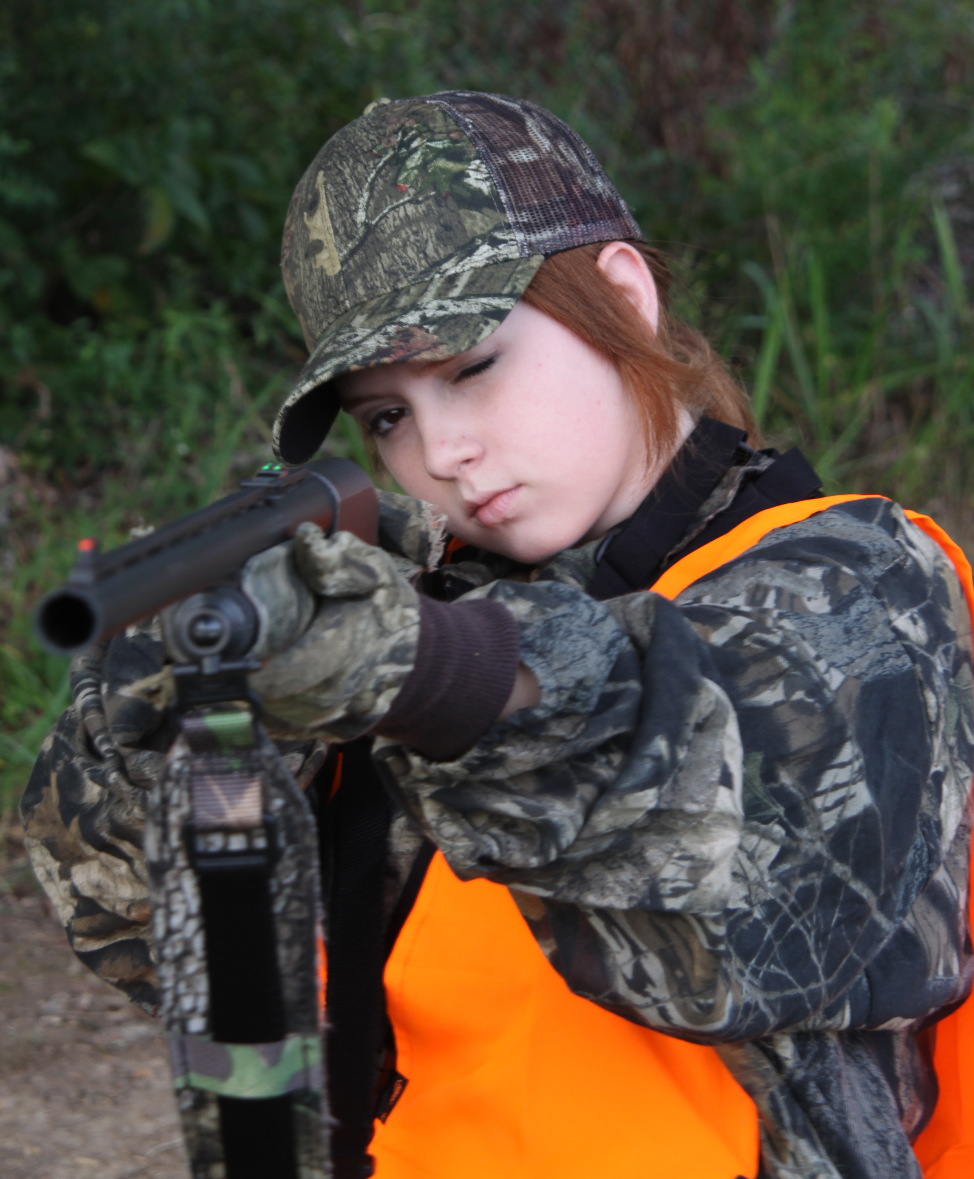 Try out rifle sight on a smooth for more accuracy when shotgun deer hunting.