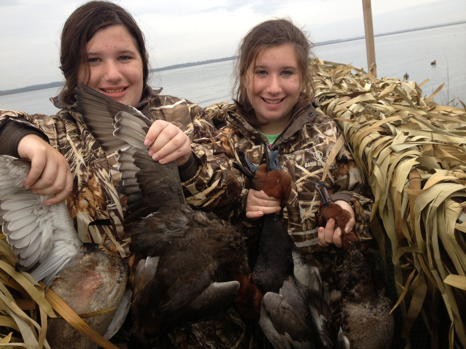 The Serra twins took on Mobile bay duck hunting and had tremendous success.