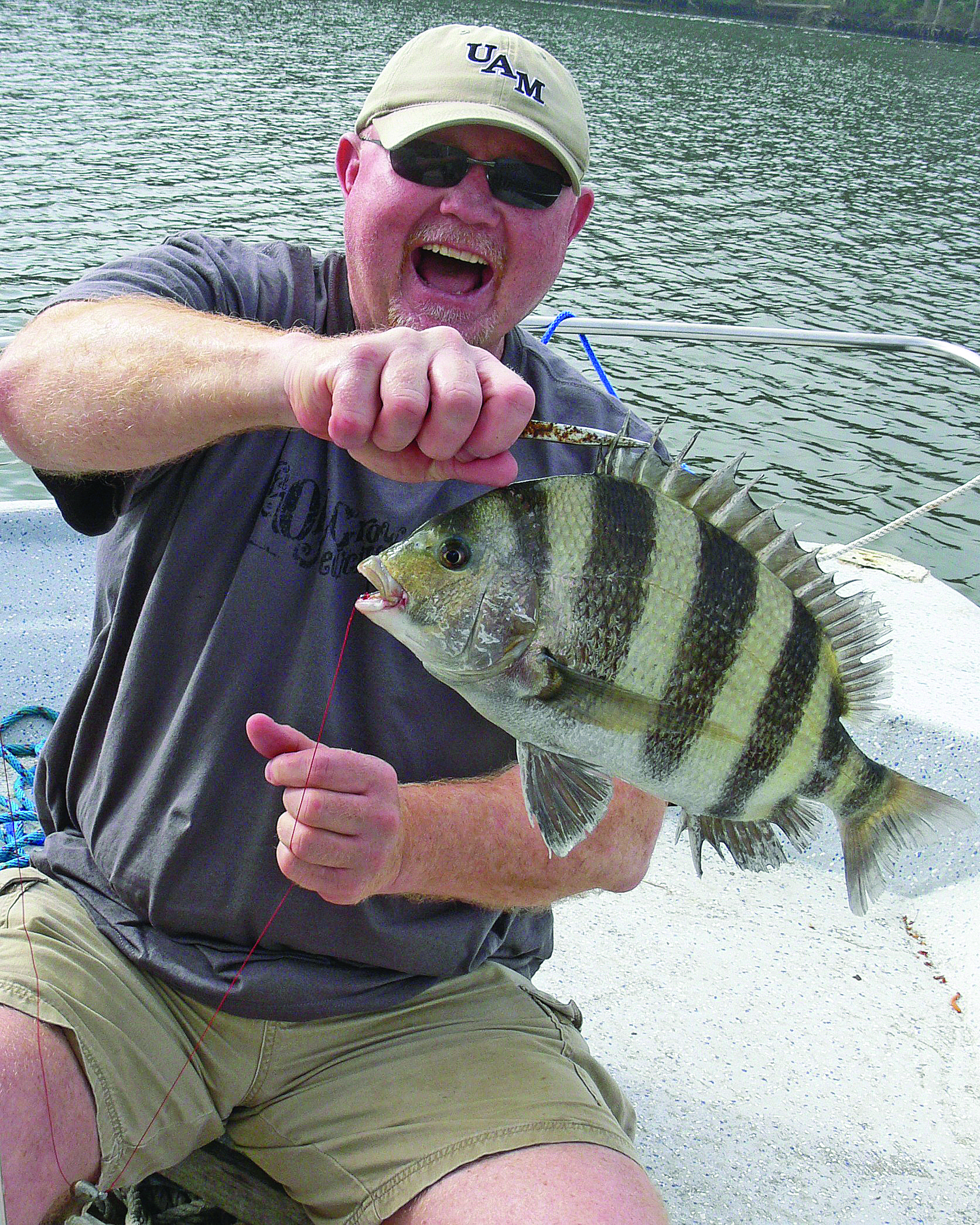 When fishing sheepshead, finding their location is the biggest objective.