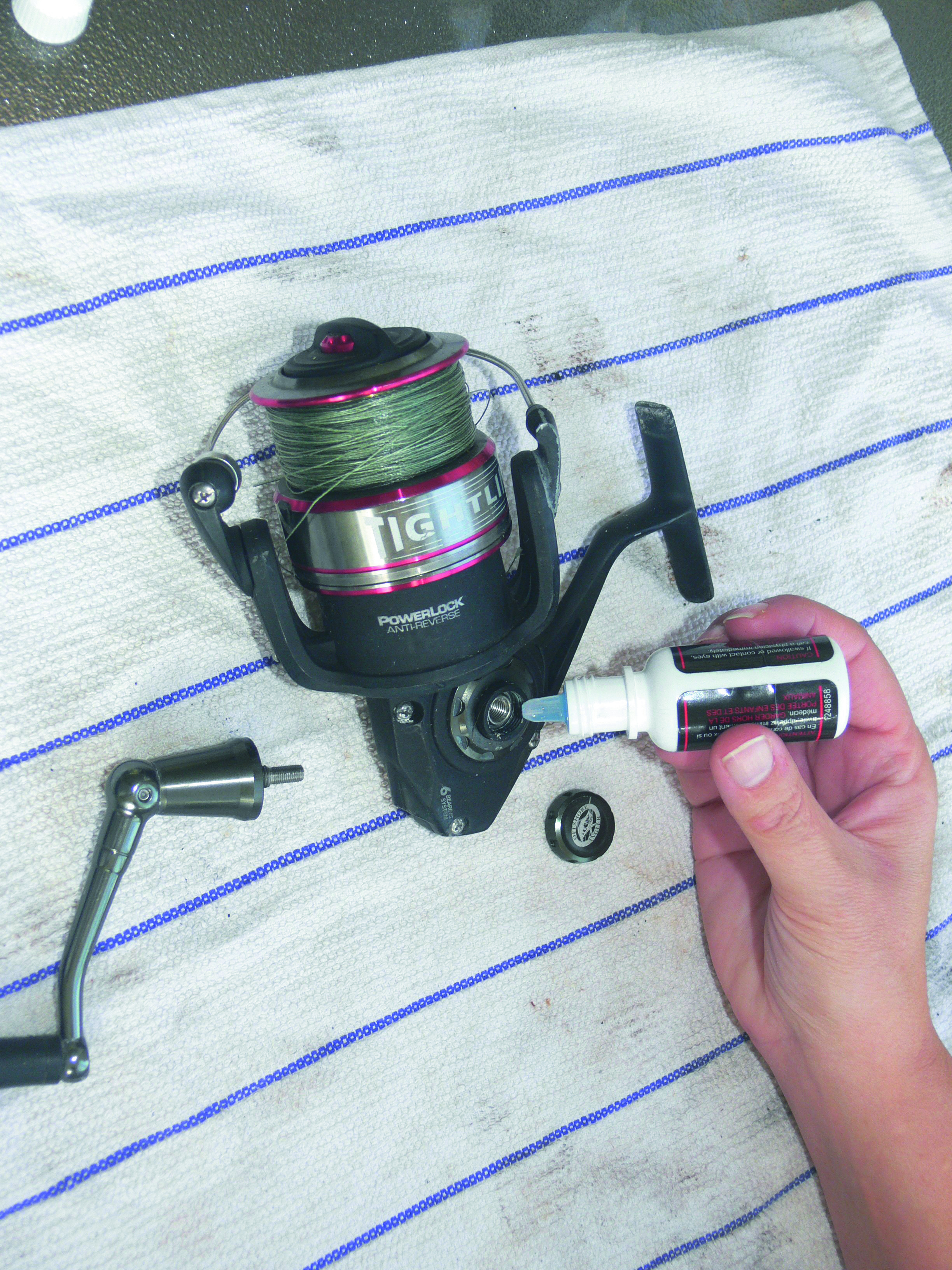 Step two to maintain your spinning reel