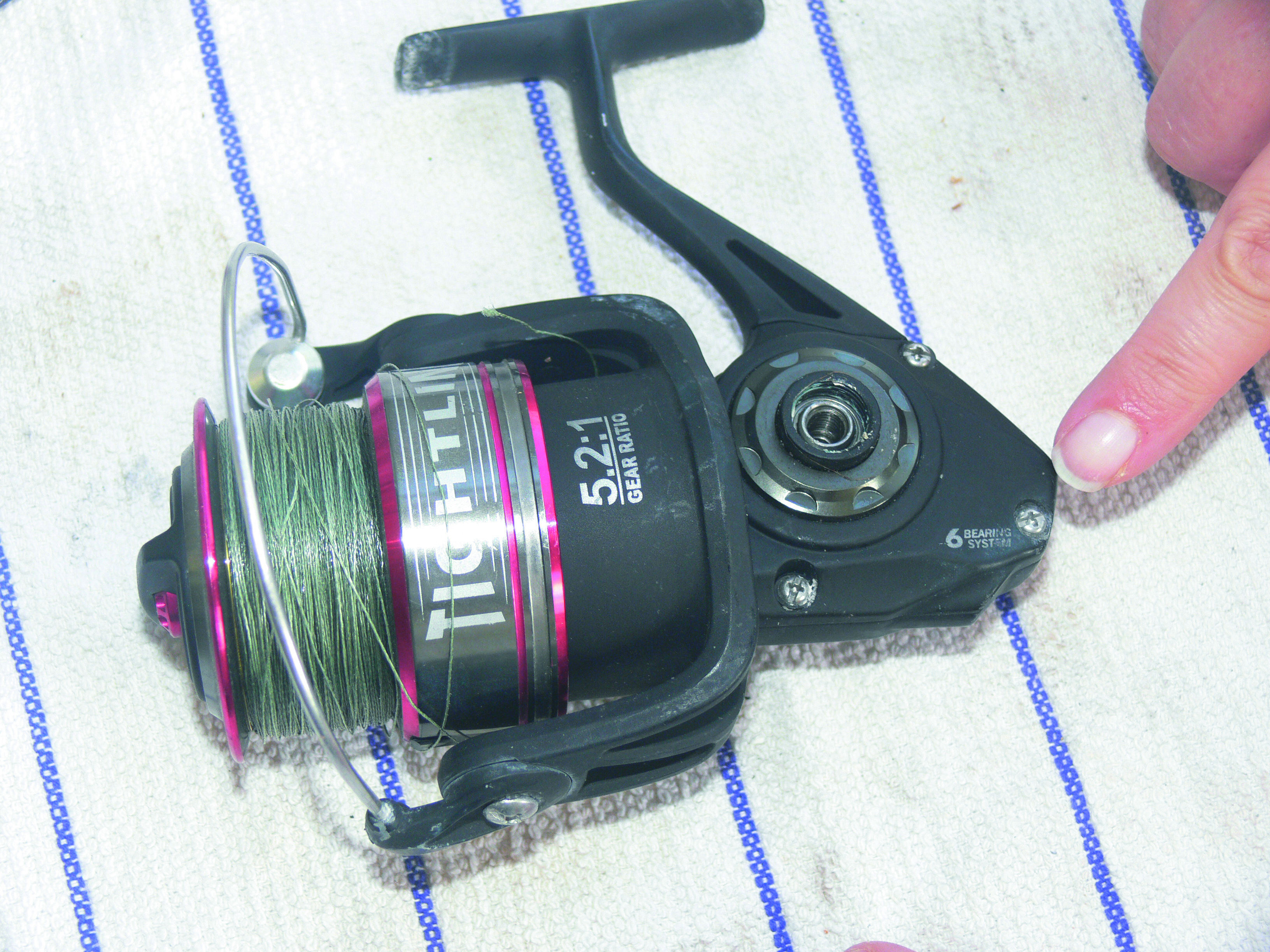 Step three to maintain your spinning reel