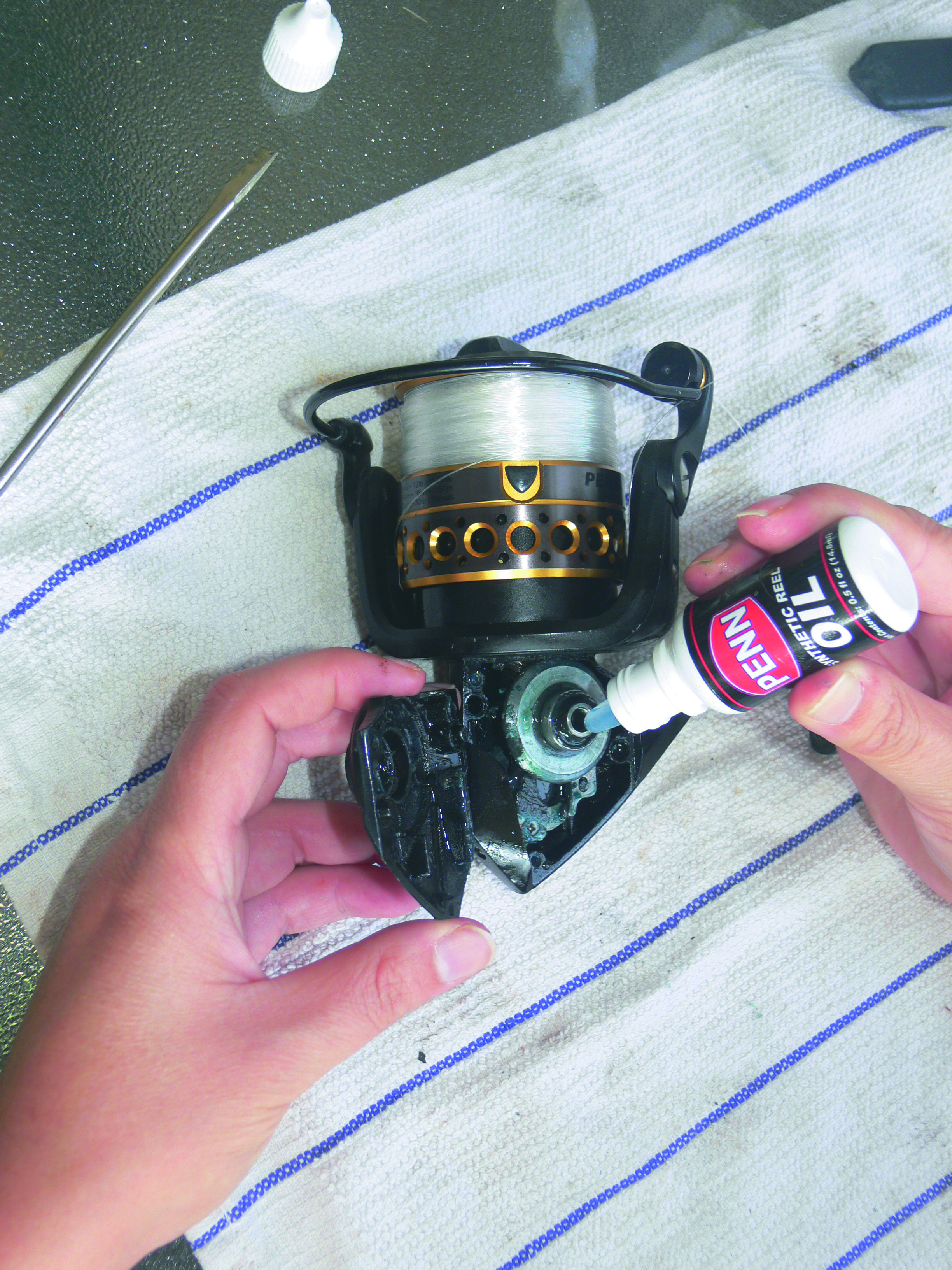Step four to maintain your spinning reel