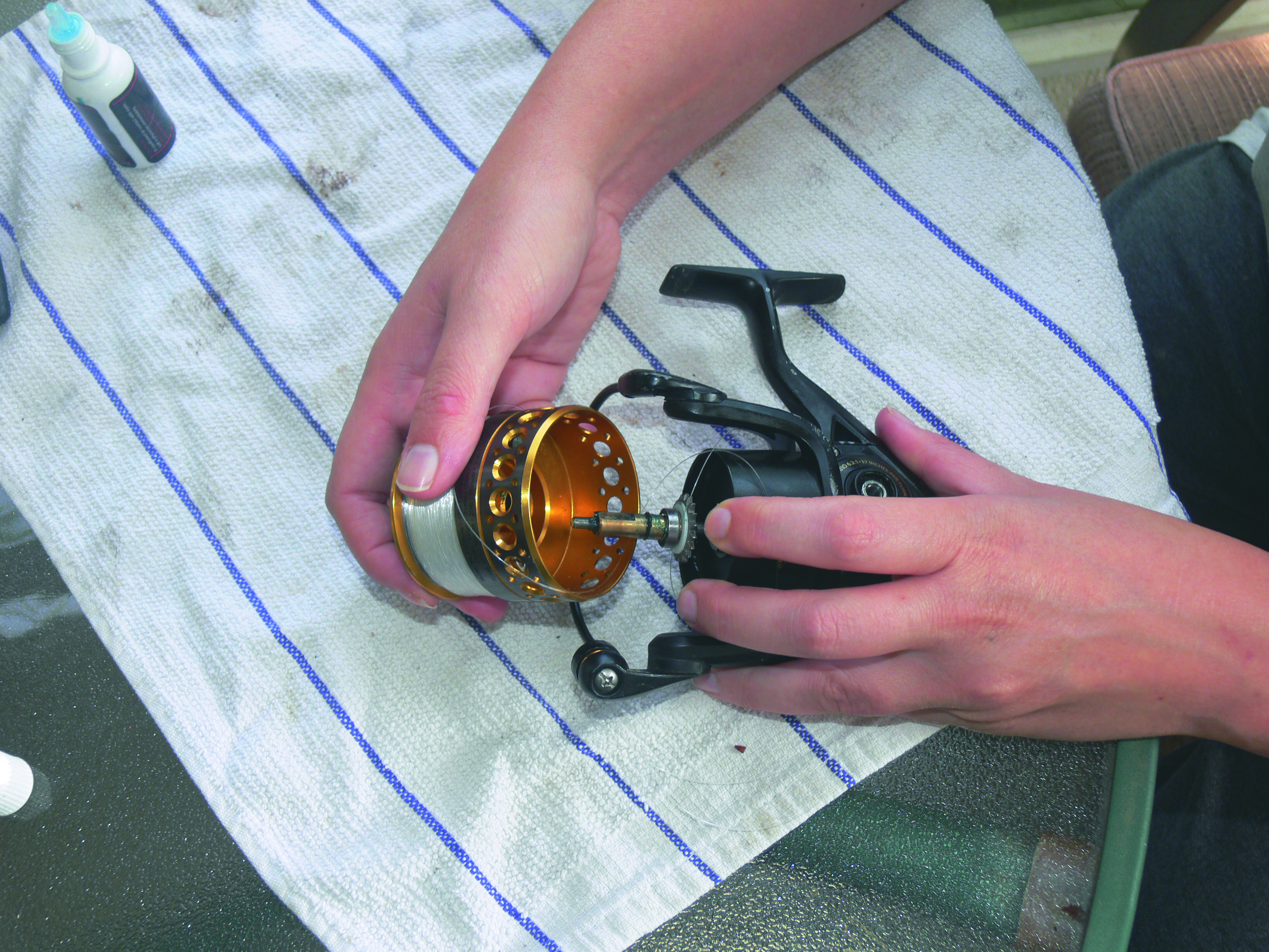 Step eight to maintain your spinning reel