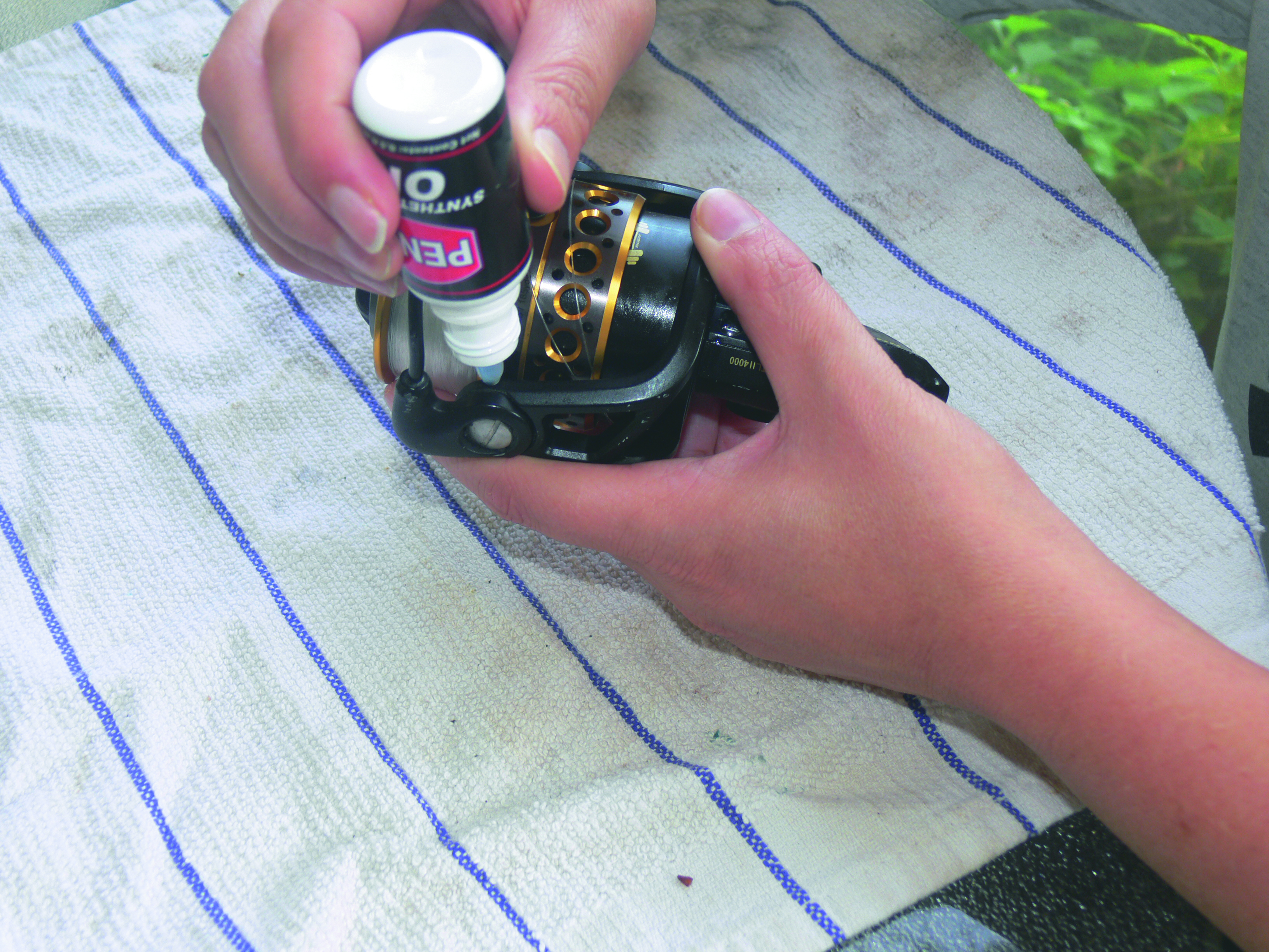 Step ten to maintain your spinning reel