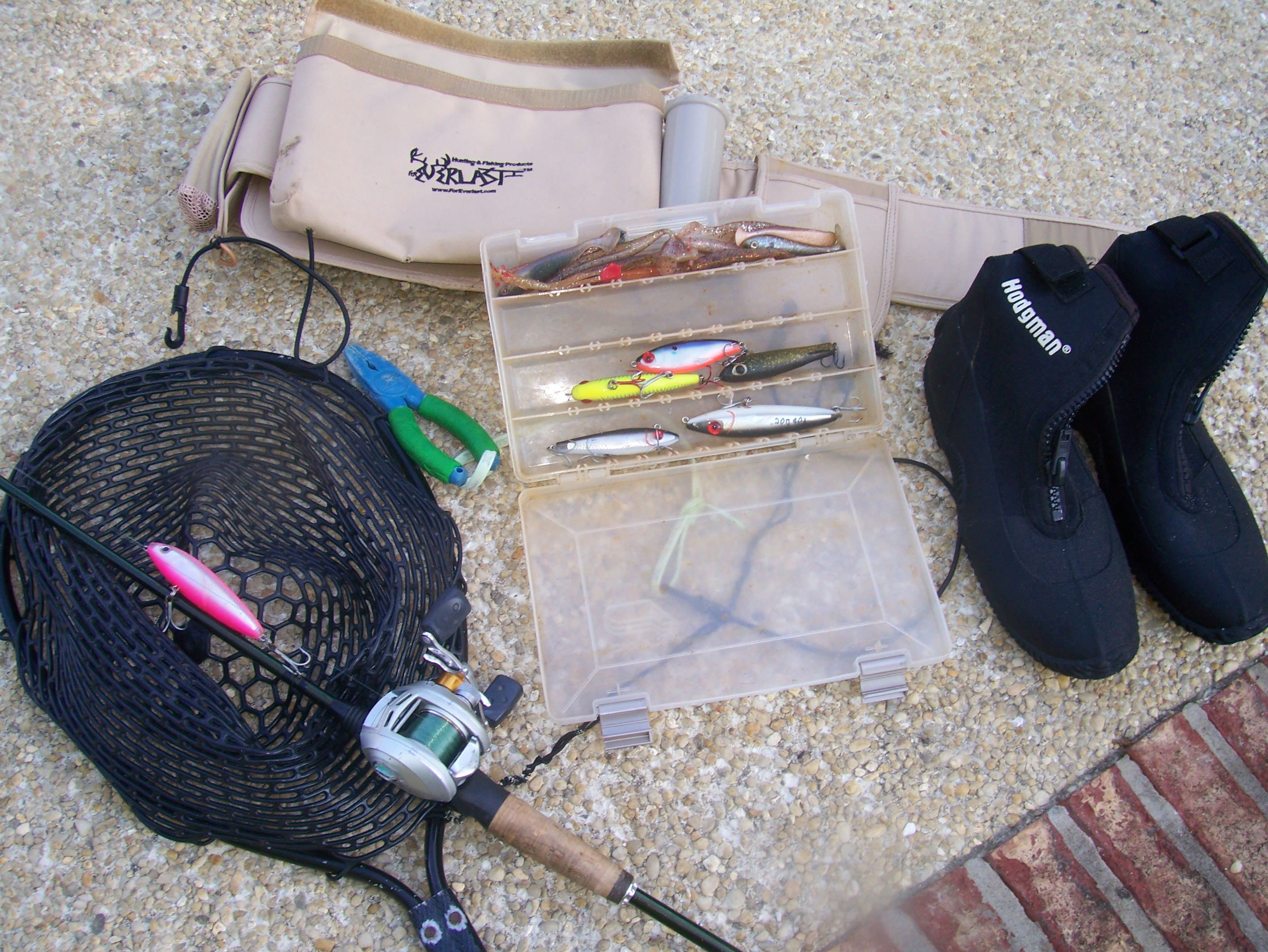 Wade fishing gear to bring while wade fishing for speckled trout.