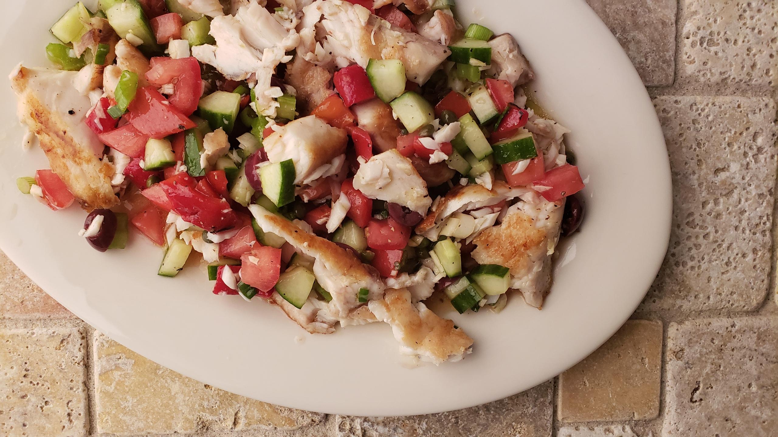 Tripletail Salad by James Beard Award winner, Hank Shaw