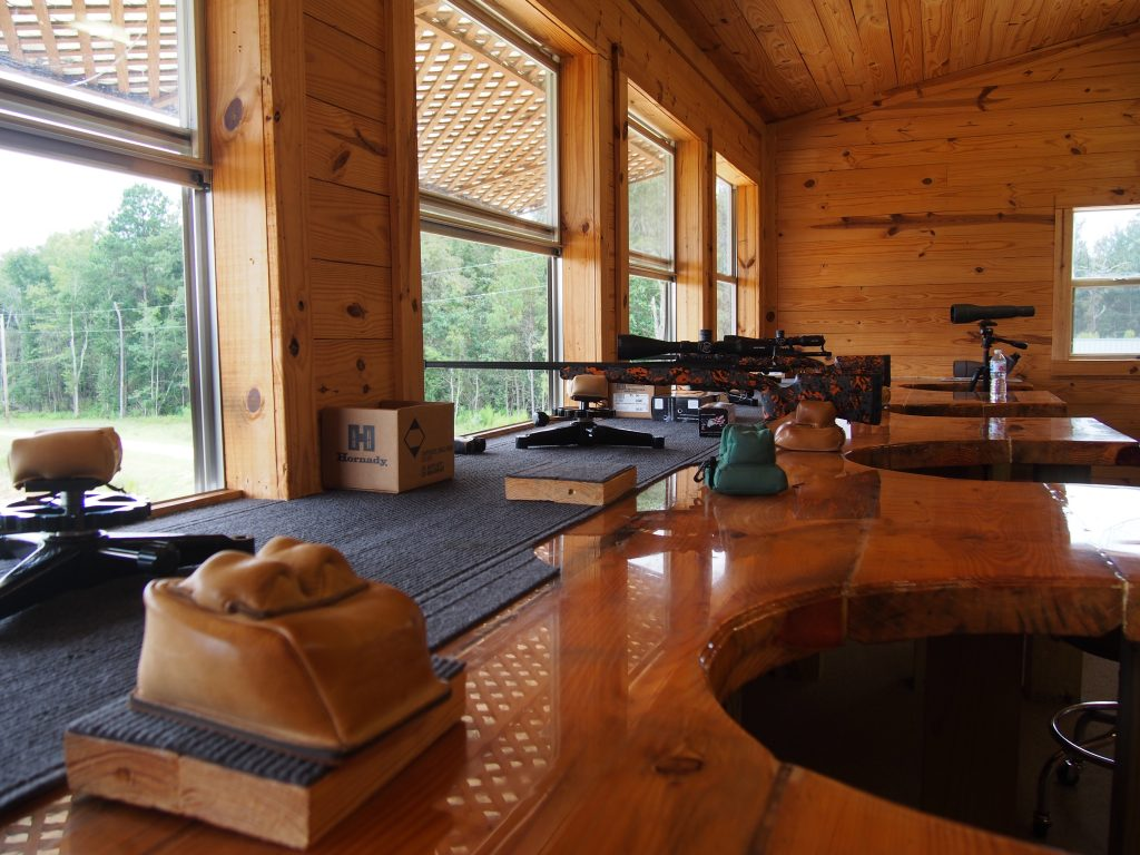 "The ""shoot house"" at Barbour creek Long Range Hunting School."