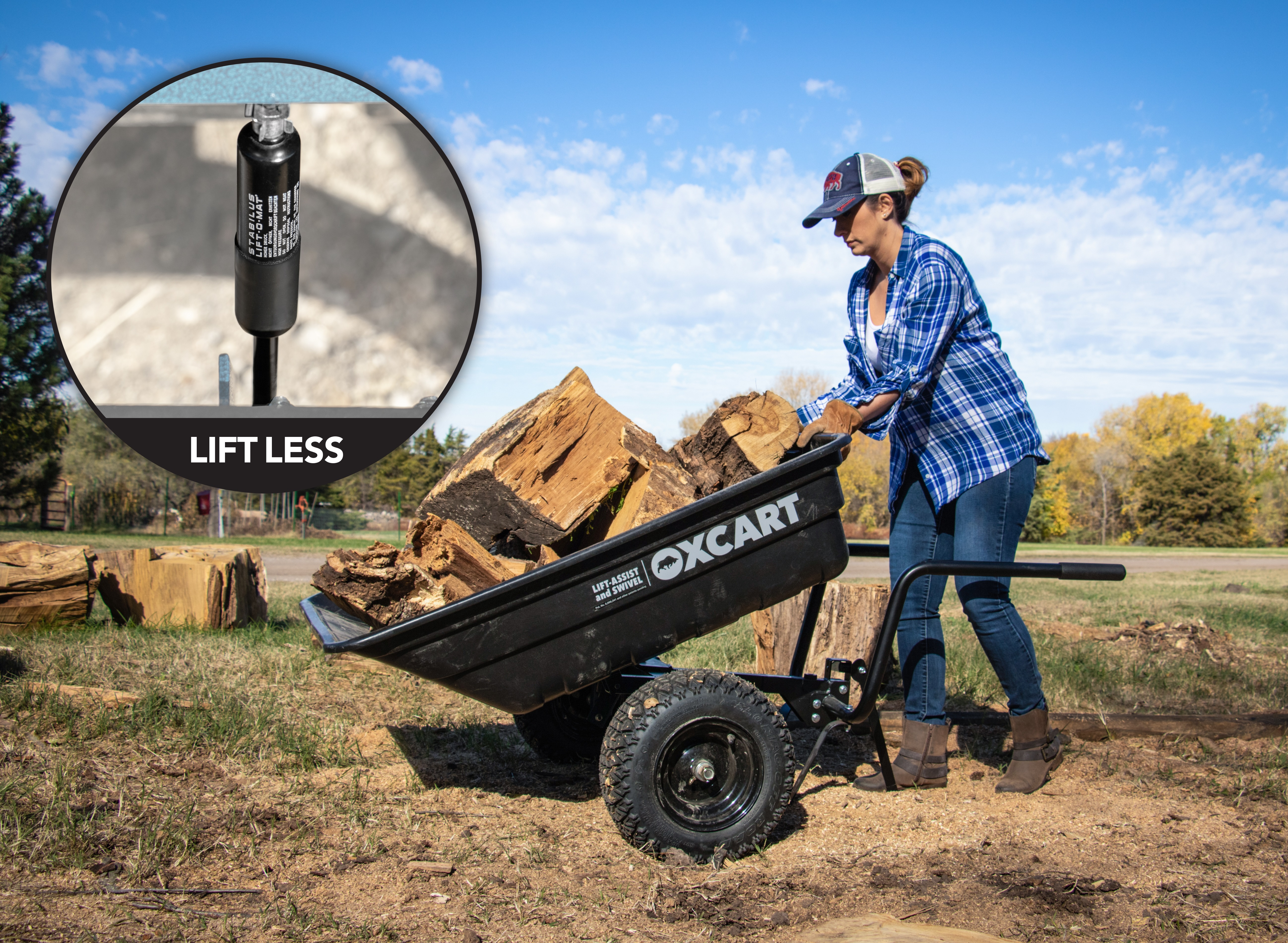 The OxCart utility cart offers time-saving capabilities making life better for hunters, farmers, ranchers and, well, basically anyone who maintains a property.