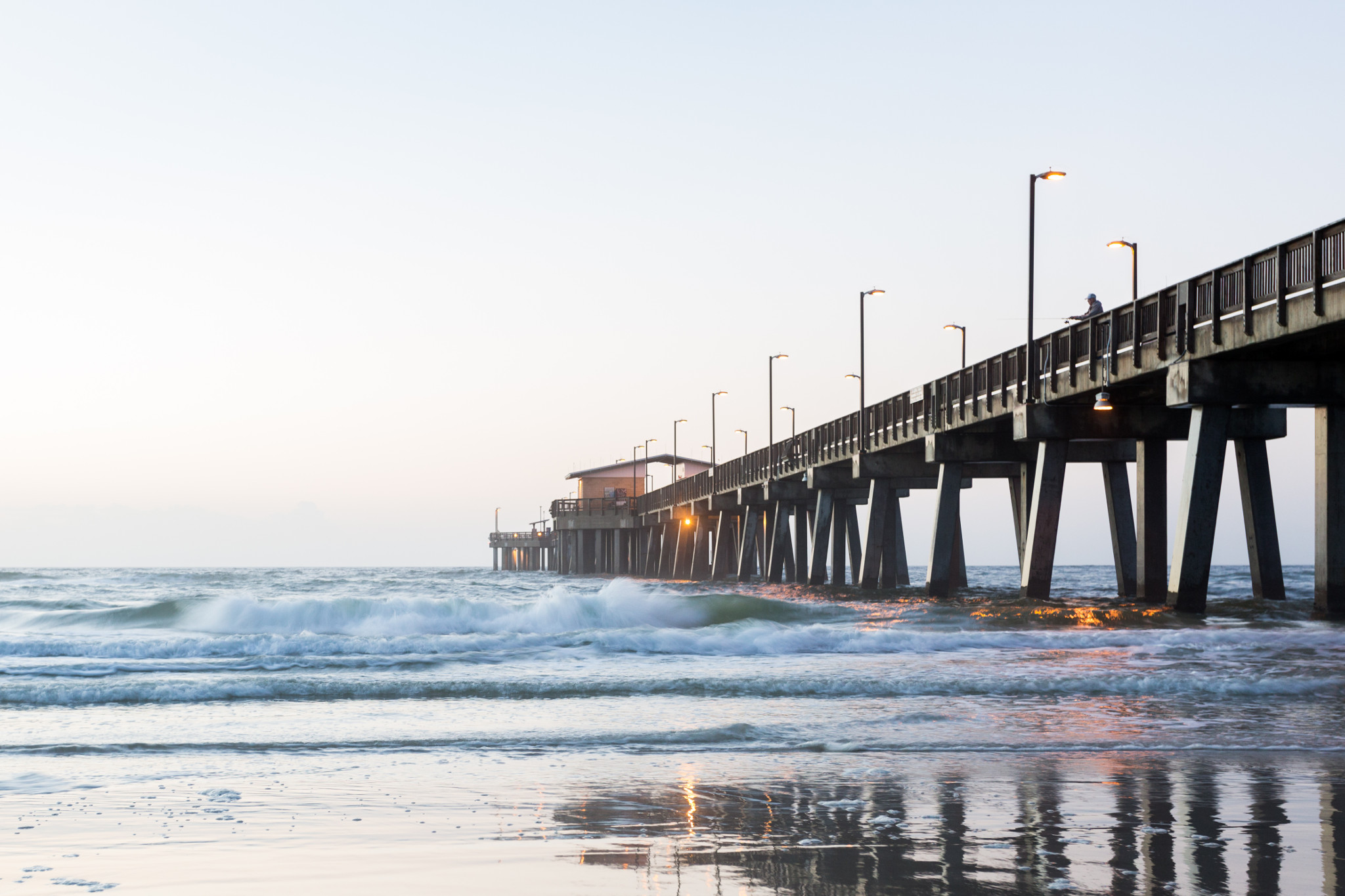The Gulf State Park Pier offers fishing opportunities and a great view