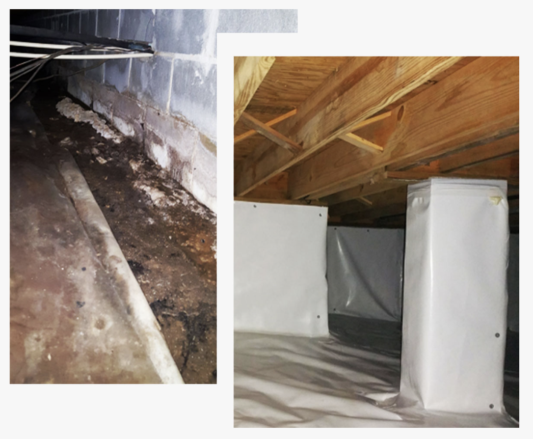 wrapped crawlspace