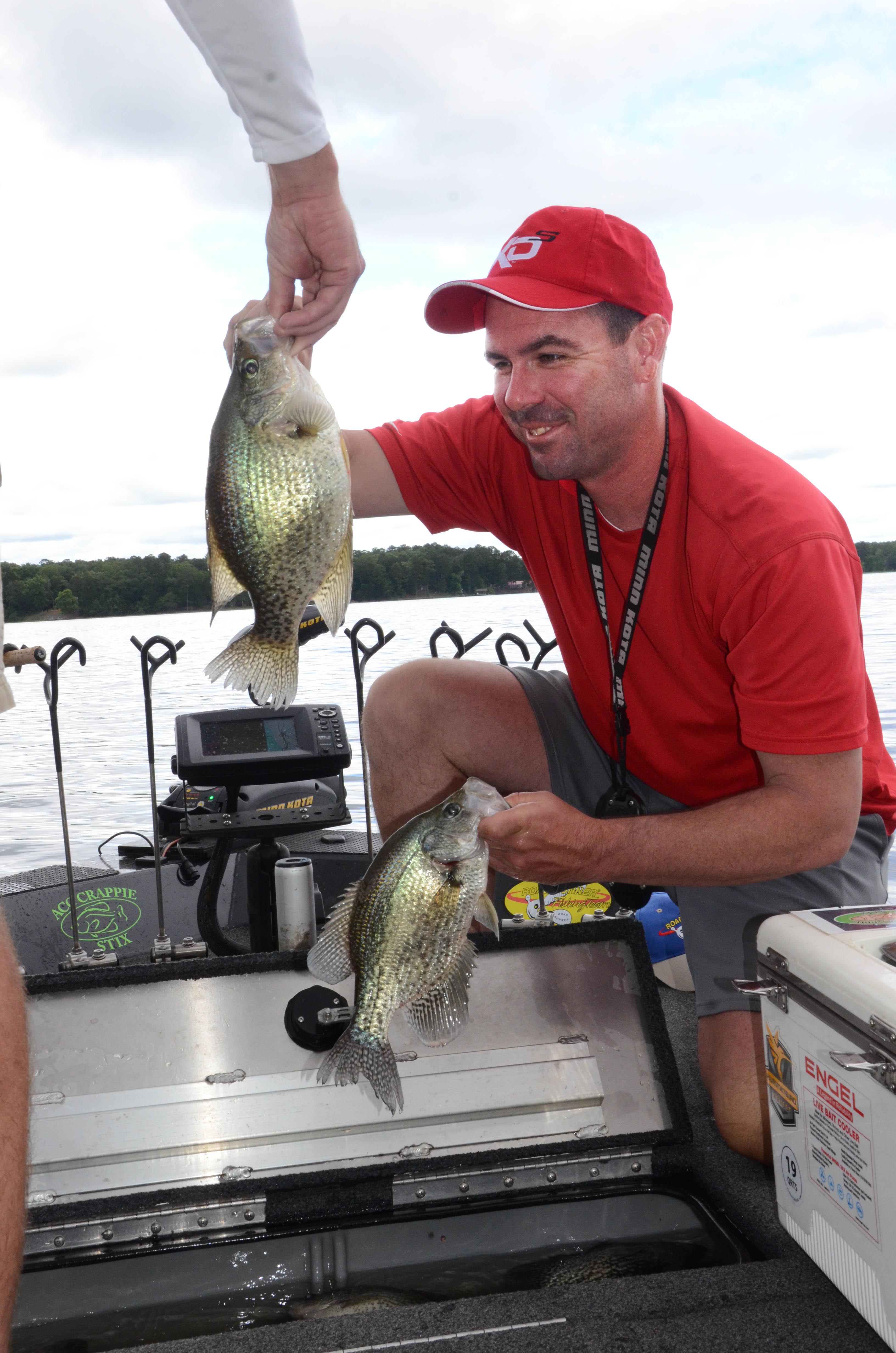 summer crappie fishing