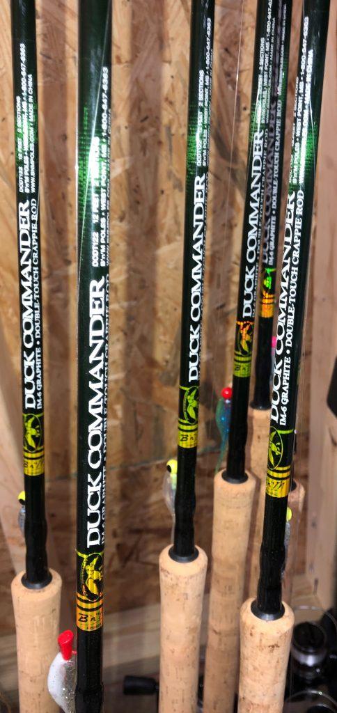 graphite crappie poles