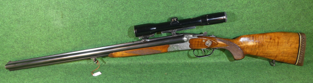 shotgun rifle combination gun. the German Drilling