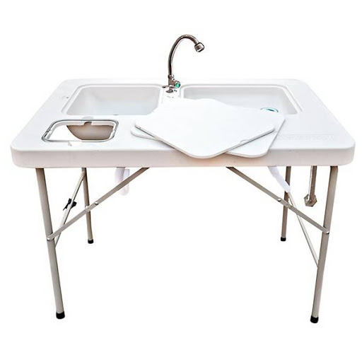stainless steel fish cleaning table
