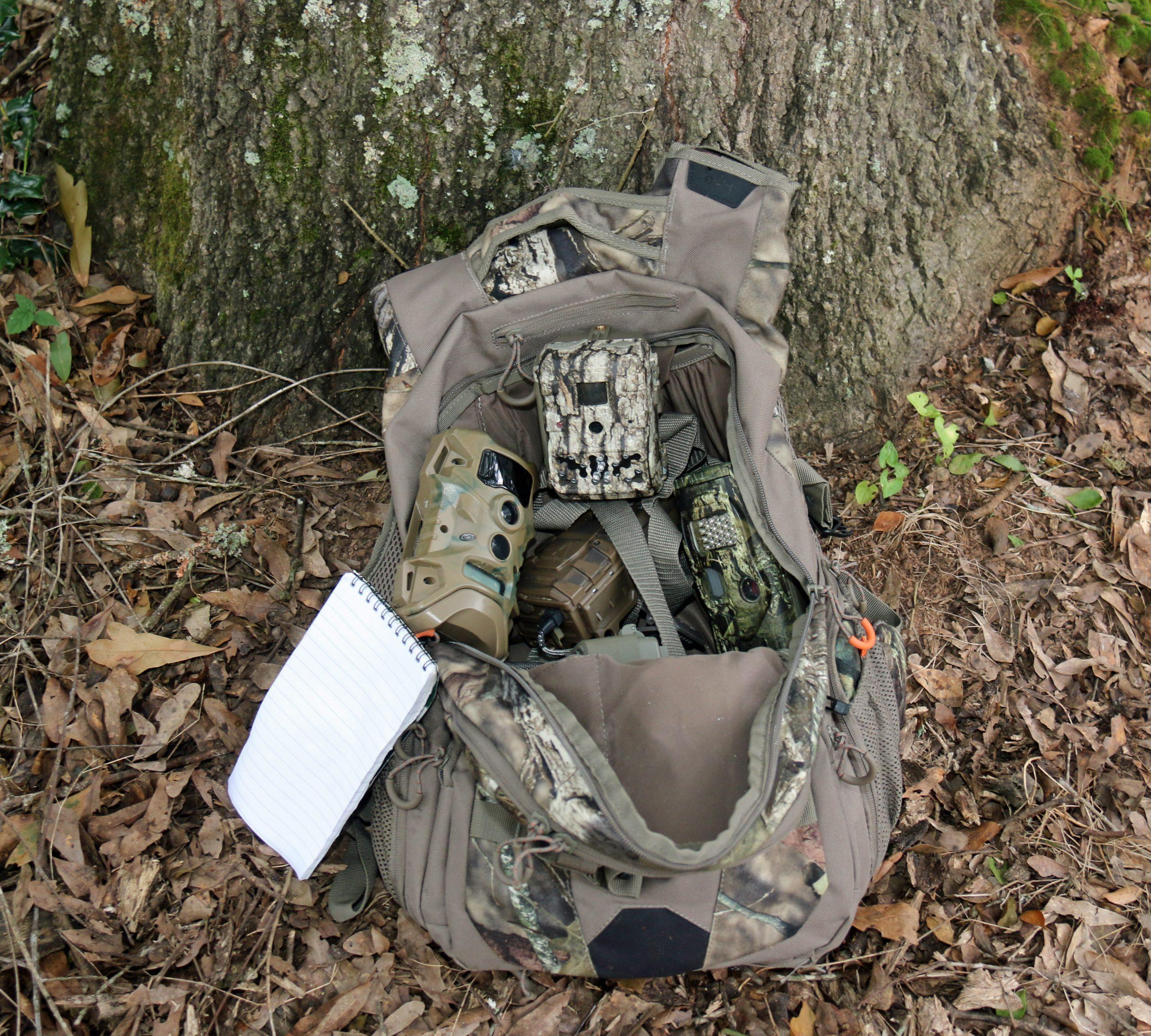 backpack full equipment