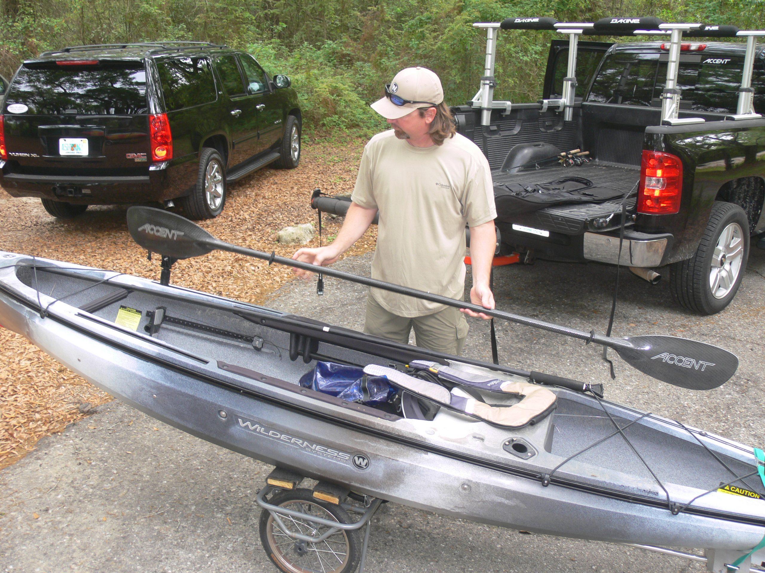 ultimate beginner fishing kayak setup paddle