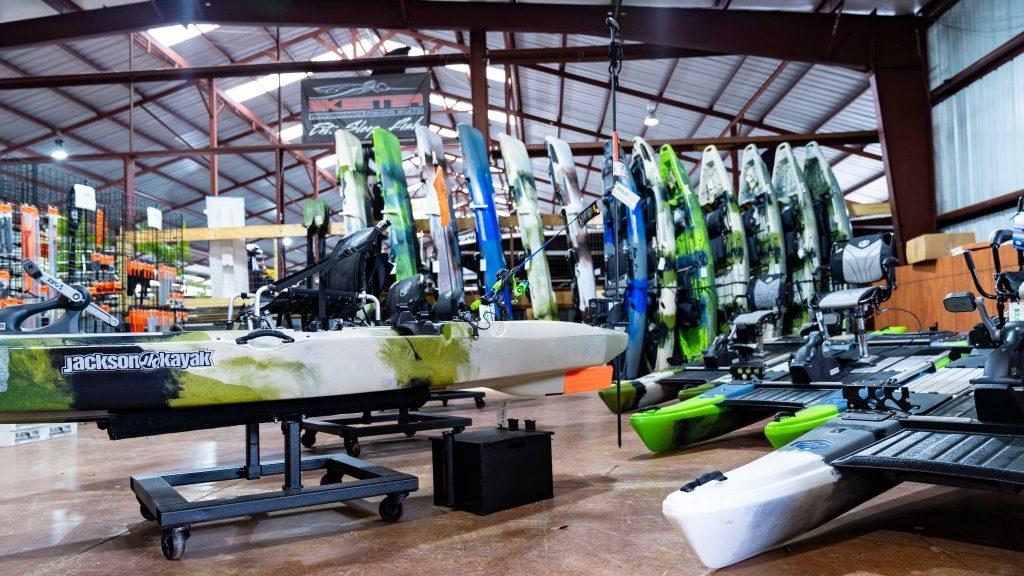 kayaks and boat seats
