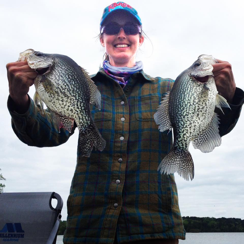 Alicia Phillips of Wetumpka with two crappie