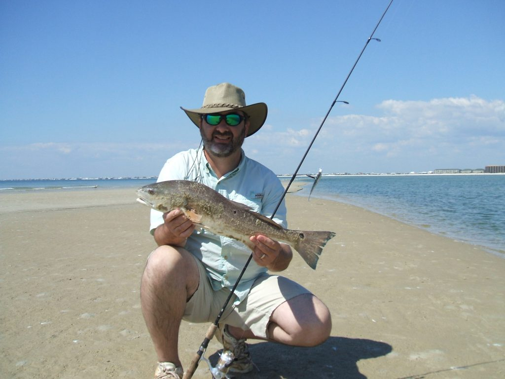 redfish caught in the surf