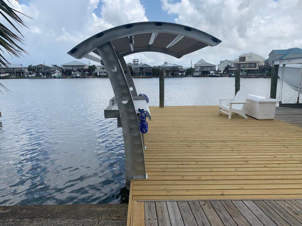 dock overhang fillet table