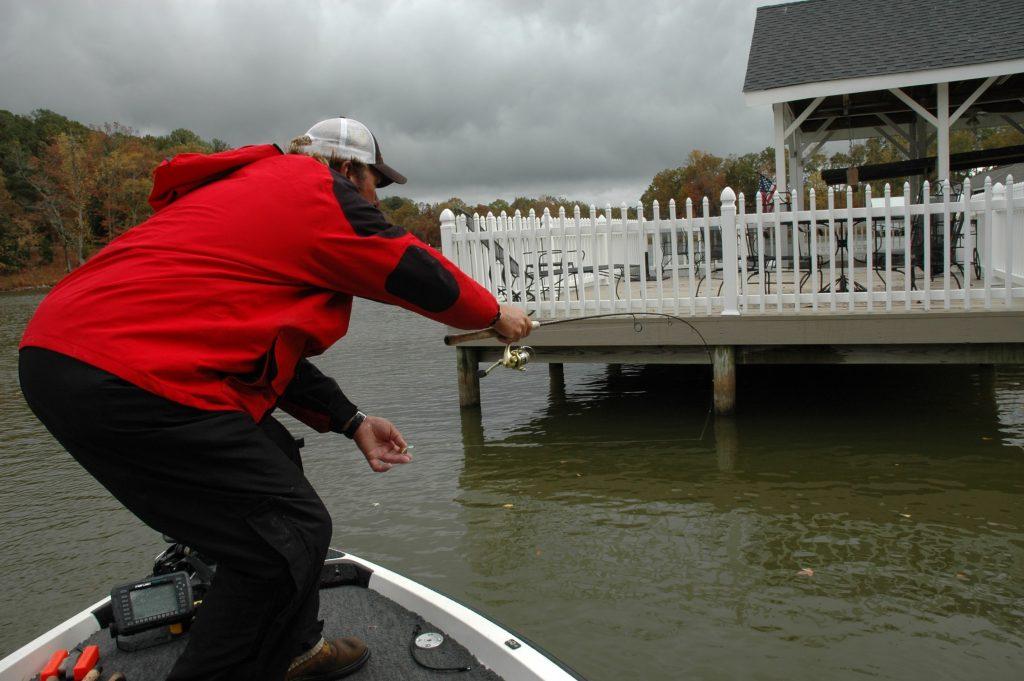 Neely Henry lake dock fishing